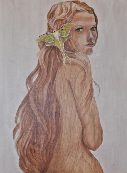 Наравне с человеческими фигурами, насекомые и их улья играют важную композиционную роль на картинах художницы