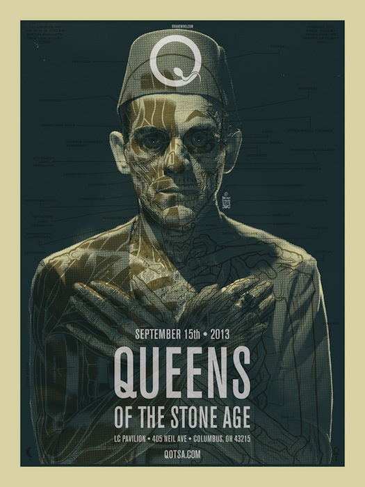 Афиша для концерта Queens of the Stone Age