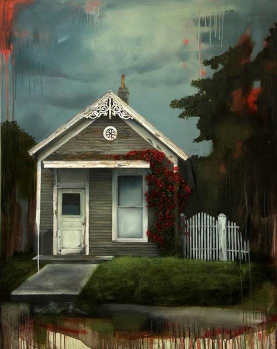 Готическая романтика провинциальной Америки в живописи Джареда Смола (Jared Small)