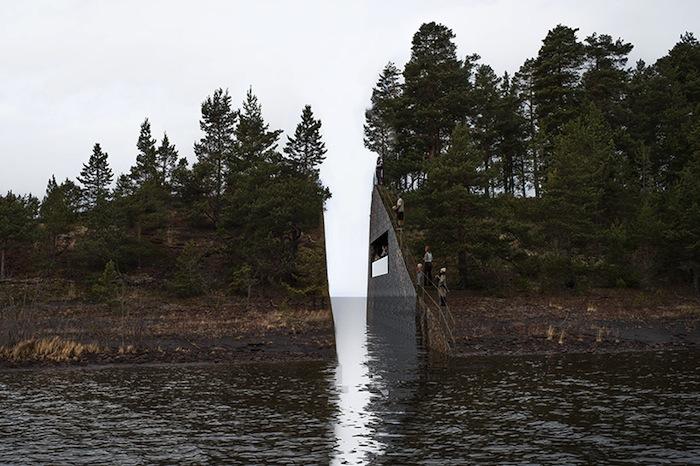 Проект мемориала «Рана памяти» (Memory Wound) Йонаса Далберга (Jonas Dahlberg)