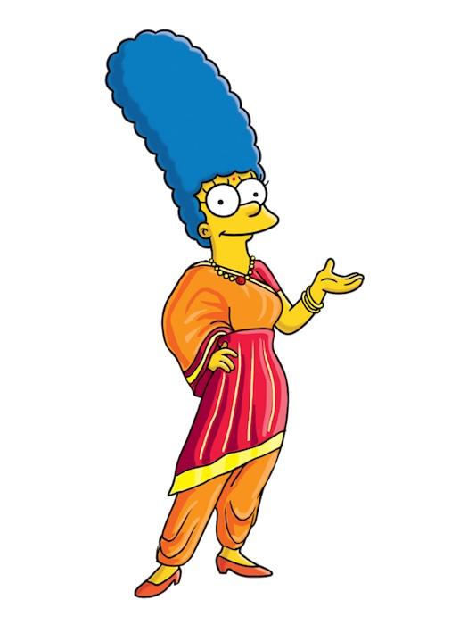 Мардж носит сари в особенной, характерной для айеров манере