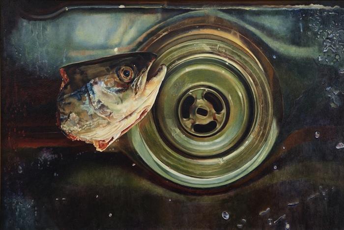 Mary Pratt, Fish Head in Steel Sink, 1983