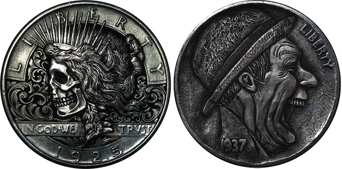 Резные монеты «Hobo Nickels» Паоло Курсио (Paolo Curcio)