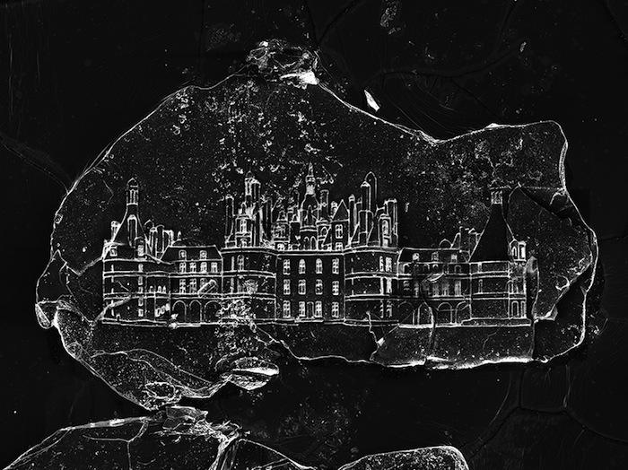 Замки, выгравированные на крошечных песчинках — совместный проект Вика Муниса и Марсело Коэльо