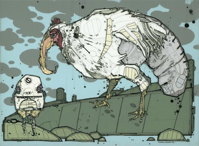 Николя Ди Женова: Adult Chicken-Slug with Egg-Clutch