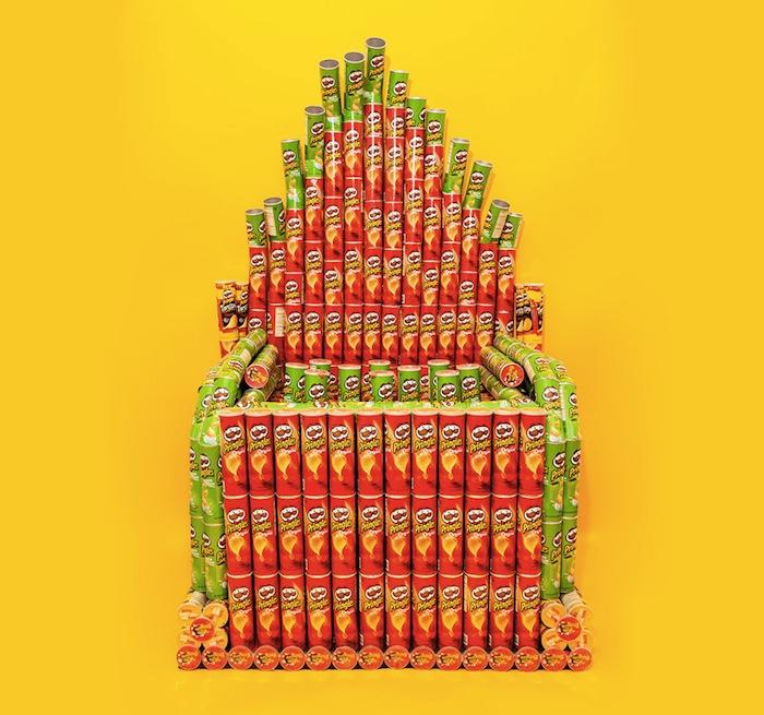 Настоящий орган из чипсов «Принглс» (Pringles)