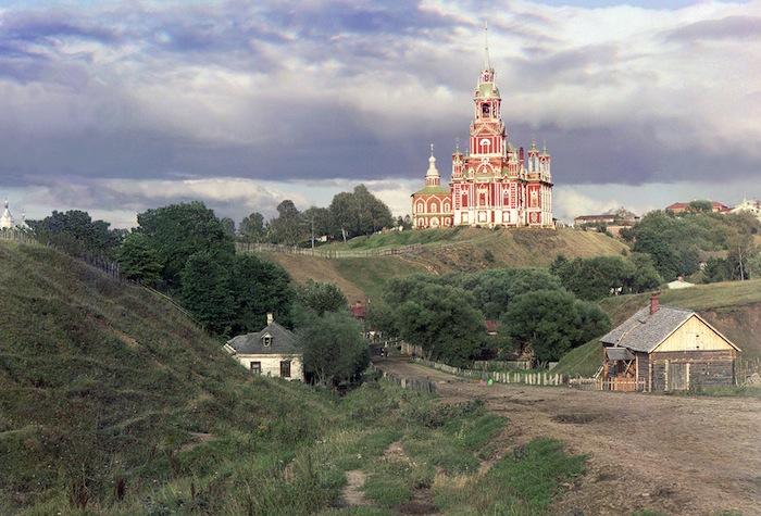 Вид на Можайский Николаевский собор с юго-западной части города в 1911 году