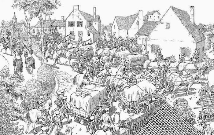 Работа Сакко иллюстрирует первый день Битвы на Сомме – одного из самых кровавых сражений в истории, которое произошло первого июля 1916 года