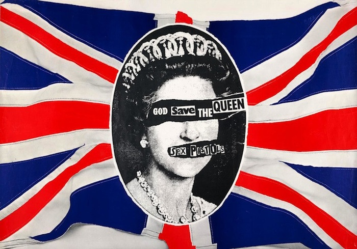 Jamie Reid, Sex Pistols, God Save the Queen, 1977