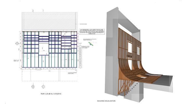 Проект дома со «сползающим» фасадом