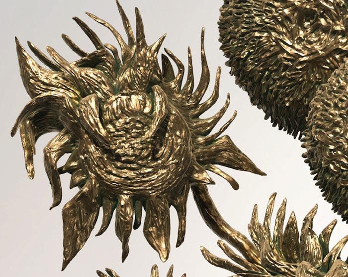 Фрагмент скульптуры «Подсолнухи» (2013) супругов Картер