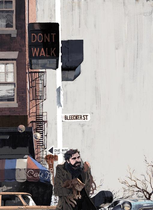 Иллюстрация к обзору фильма братьев Коэн «Внутри Льюина Дэвиса» (англ. Inside Llewyn Davis)