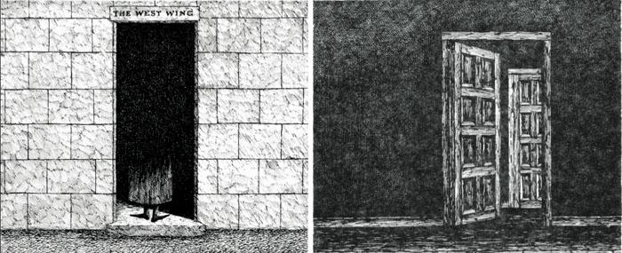 Иллюстрации из книги «Западное крыло»