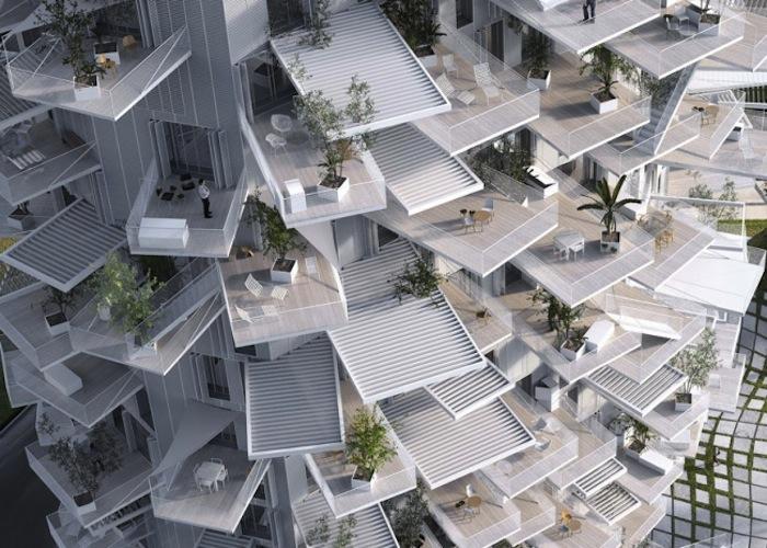 Проект жилого комплекса «Белое дерево» («L'Arbre Blanc»)