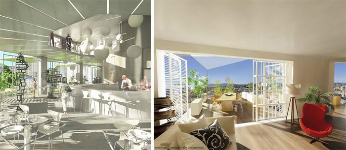 Проект жилого комплекса «Белое дерево» («L'Arbre Blanc») в Монполье