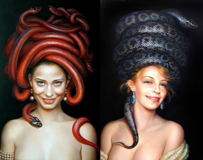 «Искусительница», «Чародейка» («Temptress» and «Charmer» by Lilia Mazurkevich)