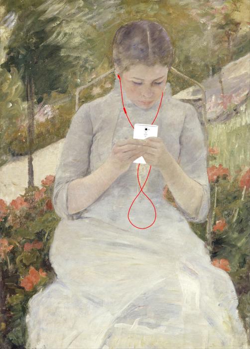 «Отдых» (оригинал - картина Mary Cassatt, 1880-82)