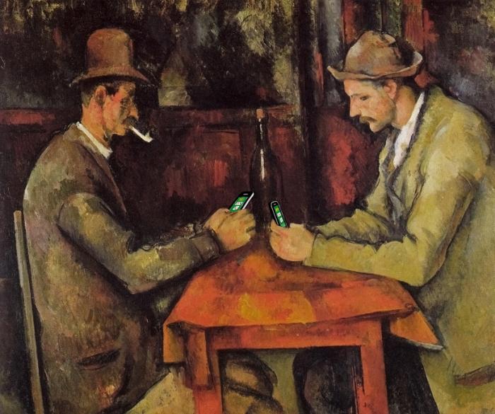 «Карточные игроки» (оригинал от Paul Cezanne 1894–1895)
