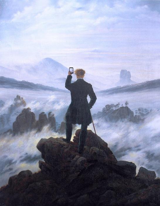 «Когда ты видишь этот великолепный пейзаж» (оригинал - «Странник над морем тумана»  Каспара Давида Фридриха, 1818)