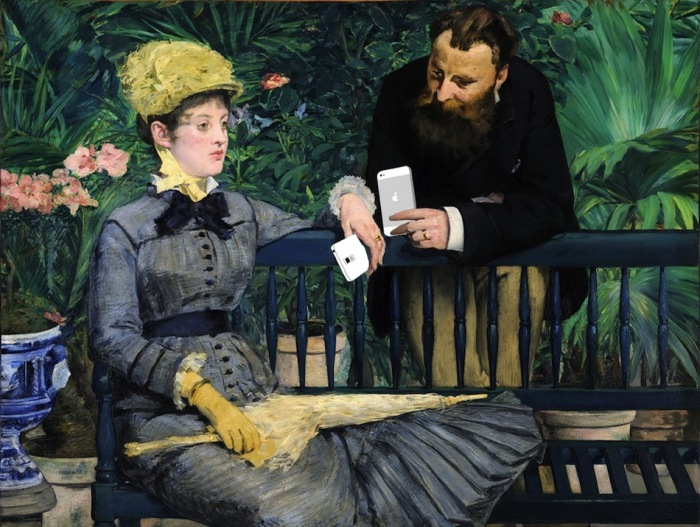 «Всегда в моей руке» (оригинал - «Мадам Мане в Консерватории» от Edouard Manet)