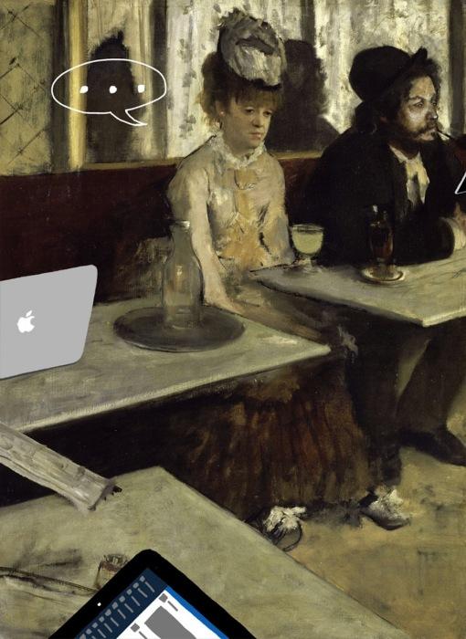 «В кафе» (оригинал - «Абсент» от Эдгара Дега, 1876 )