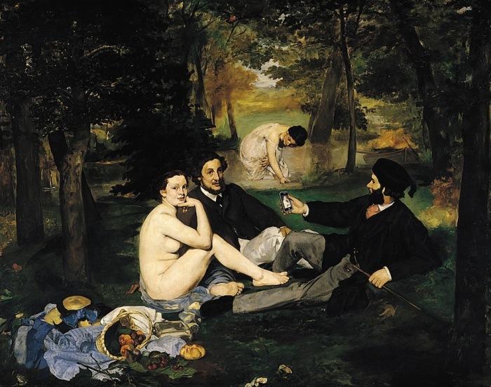 «Ланч» (оригинал - картина Эдуарда Мане, 1862-63)
