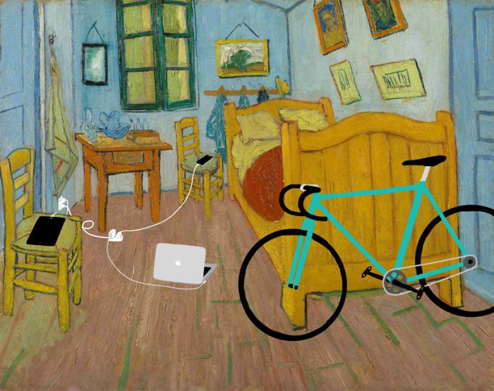 «Его комната» (оригинал - «Спальня в Арле» Ван Гога, 1888)
