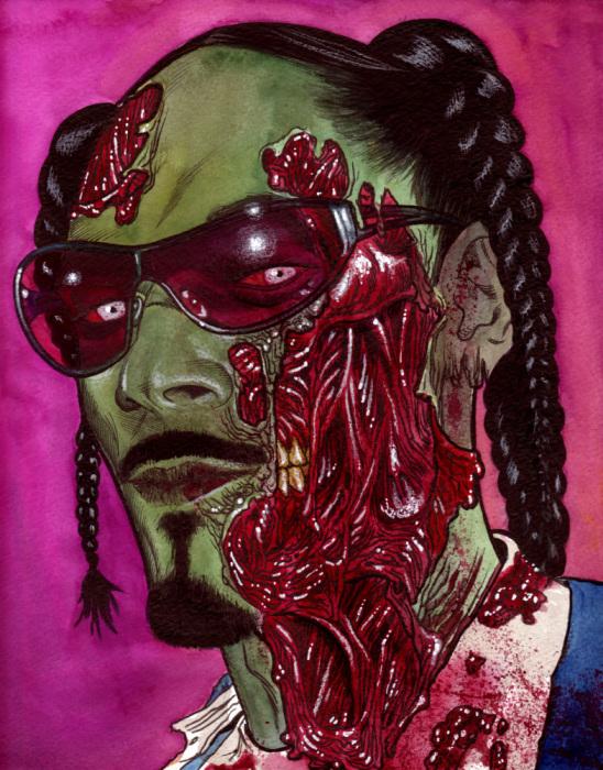 Американский зомби рэпер Snoop Dogg, автор - Роб Сачетто