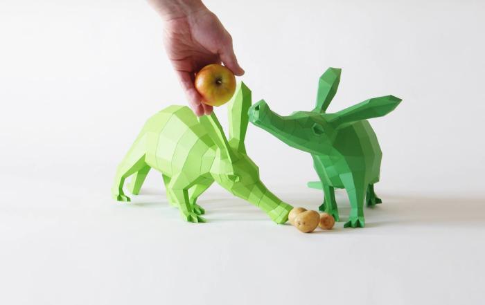Красочные фигурки зверей от Вольфрама Кампфмейера (Wolfram Kampffmeyer).