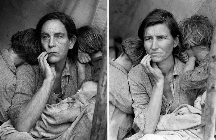 Сандро Миллер, Доротея Ланж / Migrant Mother, Nipomo, Калифорния (1936 год), 2014 год.