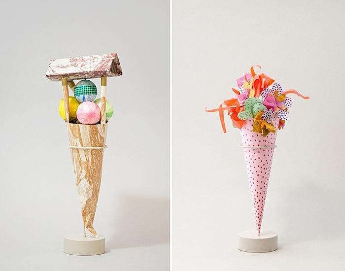 Бумажные рожки с мороженым от студии The Studio Fludd.