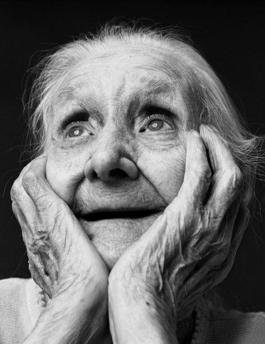 Черно-белые портреты пожилых людей от Alex Ten Napel.