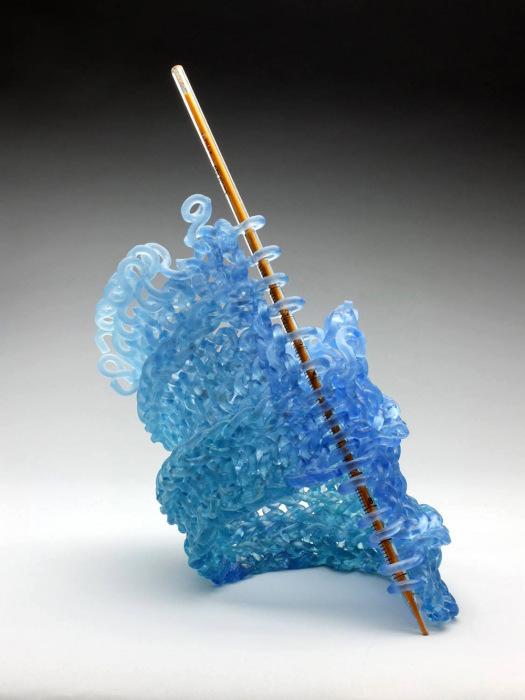 Уникальная техника обработки стекла от Кэрола Милна (Carol Milne).