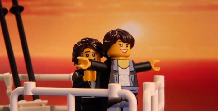 Сцена из кинофильма Титаник.