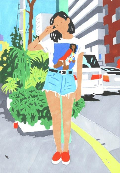 Окружающий мир глазами японского иллюстратора Хисаси Окава (Hisashi Okawa).
