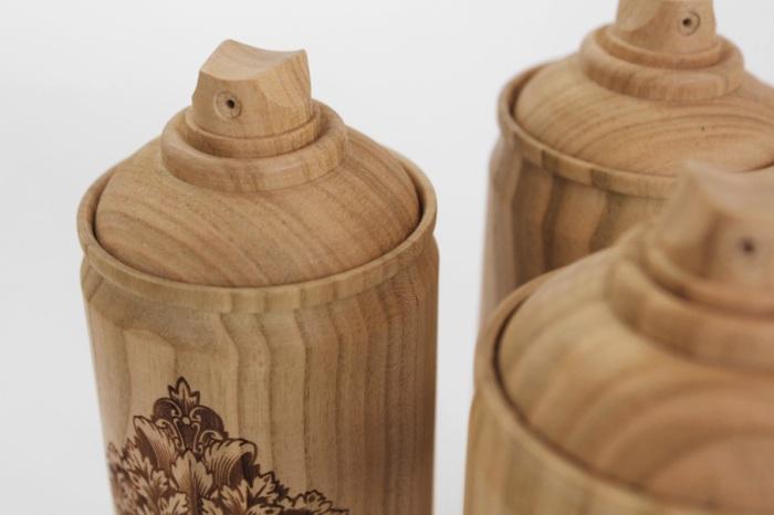 Оригинальные баллончики из дерева от Тибо Малет (Thibaut Malet) и Zics.