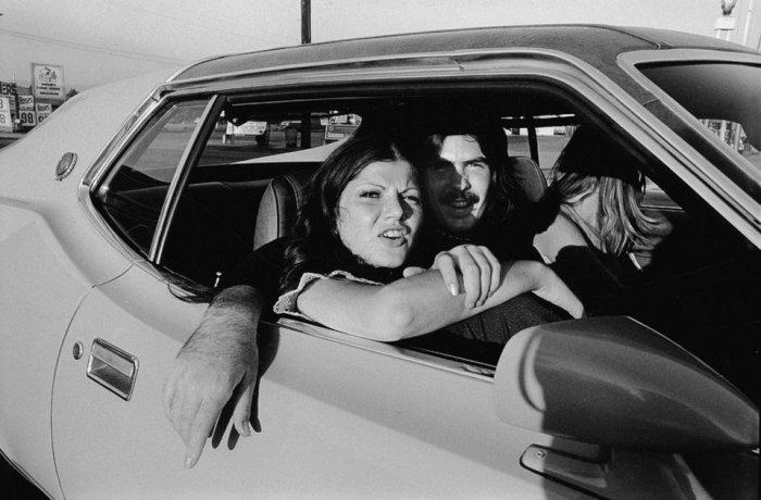 Люди в машинах - фото-проект из 1970-ых.