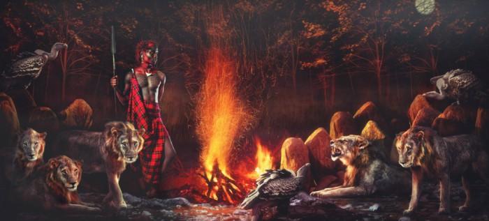 Местные жители племени Масаи на снимках, сделанных британским фотографом.