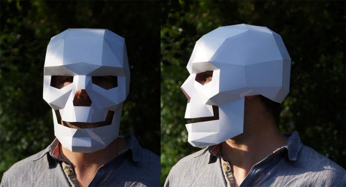 Как из бумаги сделать маску череп