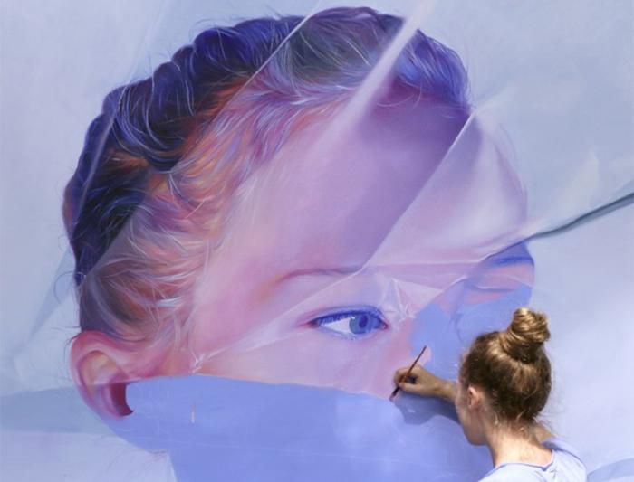 Гиперреалистичные женские портреты от канадской художницы.