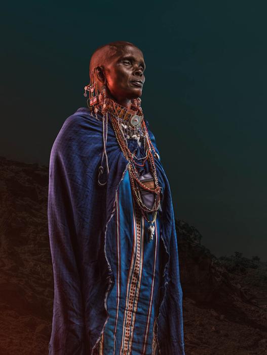Потрясающие портреты местных жителей племени из Кении.