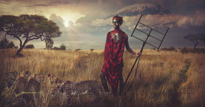 Фото-проект, посвященный африканскому племени Масаи.