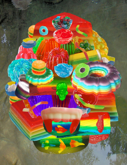 Забавный красочный коллаж от Стэф Дэвидсон (Steph Davidson).