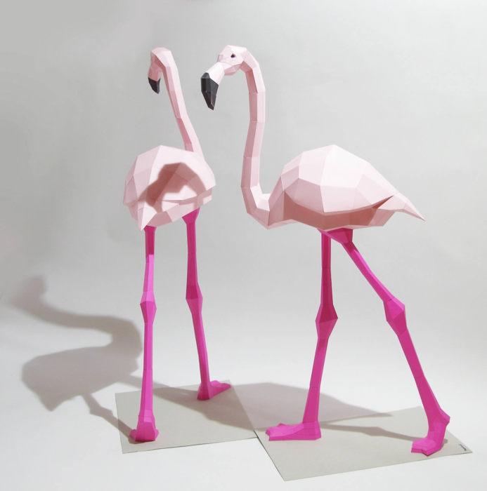 Фламинго сделать своими руками