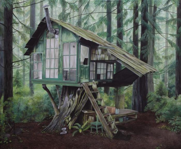 Таинственные скандинавские леса в картинах немецкой художницы.