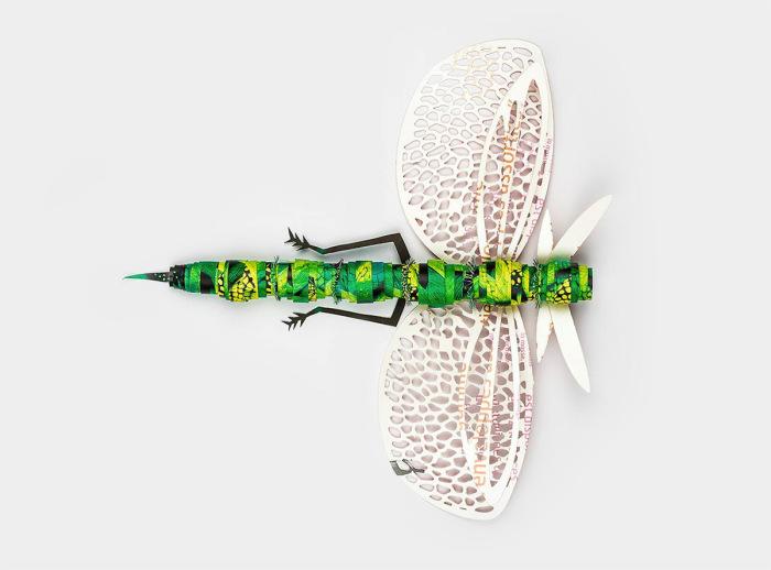 Серия бумажных насекомых - рекламная кампания в поддержку продвижения вторсырья.