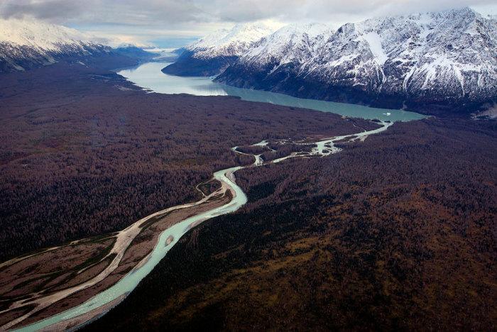 Природные ландшафты севера Канады.