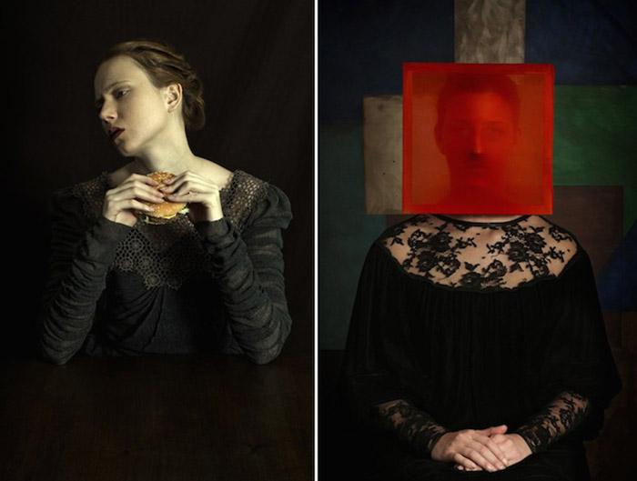 Забавные портреты в стиле Ренессанс от аргентинского фотографа Romina Ressia.