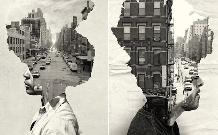 Потрясающая коллекция фото-коллажей от американского фотографа.