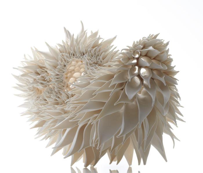 Скульптуры, повторяющие узоры кораллов.